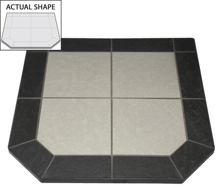 AP631 40 inch  x 40 inch  Flat Wall Hearth Board from the Two Tone Collection  Night