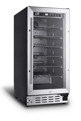 WC3302US 33 Standard Bottle Wine Cooler with 3.16 Cu. Ft. Capacity  Adjustable Temperature Range  and Reversible Tempered Glass Door in Stainless Steel Trim