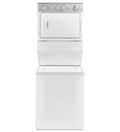 Wgt4027ew 27 Combination 2.5 Cu. Ft. Washer/ 5.9 Cu. Ft. Gas Drier With He Agitator Fabric Softener Cap  White Porcelain Basket  Auto Drying System  8 Wash
