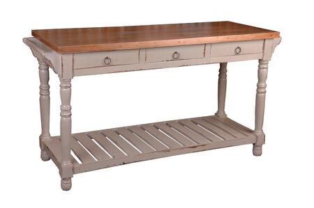 Cc-tab183tld-cssv Cottage Kitchen Island Sideboard In Cobblestone With Salvage
