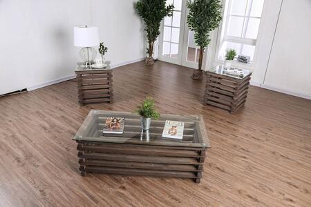 Rebekah Collection CM4617-3PC 3-Piece Living Room Table Set with Coffee Table and 2 End Tables in