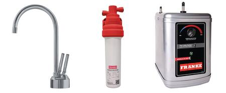 LB8280-100-3HT Faucet Set with LB8280 Hot & Cold Filtered Water Dispenser  FRCNSTR100 Filter Canister and HT300 Little Butler Heating
