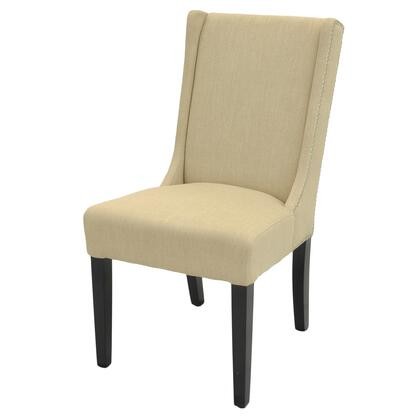 Holden Collection 358339-F Dining Chair with Stitched Detailing  Nail Head Accents and Fabric Upholstery in