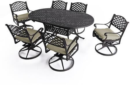 SCD003-02-MH-0225 7-Piece Cast Aluminum Patio Dining Set with 72