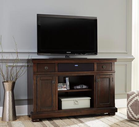 Porter Collection W697-120A31 2-Piece Set with TV Stand and W100-31 Small Integrated Audio Unit in Rustic