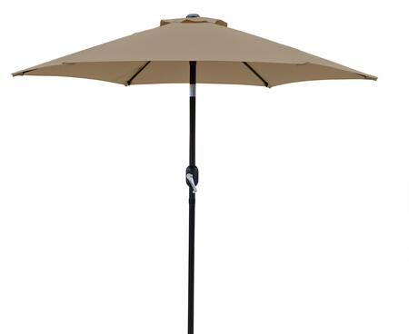 NU5447ST Bistro 7.5-ft Hexagonal Market Umbrella with Easy-Open Adjustable Crank  Push-to-Tilt Feature  1.5 inch  Diameter Pole and Weather Resistant Olefin