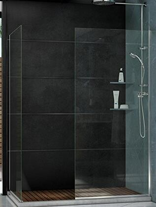 SHDR-3230342-06 Linea Frameless Shower Door. Two Glass Panels: 34 in. x 72 in. and 30 in. x 72 in. Oil Rubbed
