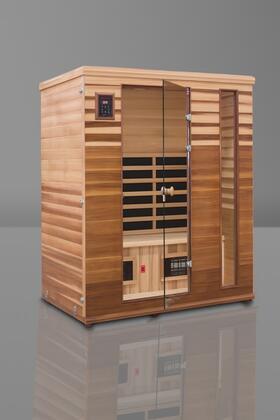 Renew III HM-BSE-3-BT-CL Infrared Sauna with Flat Bench  Trulnfra Heater  Tecoloy M Heater  Floor Heater and Sound System in Cedar