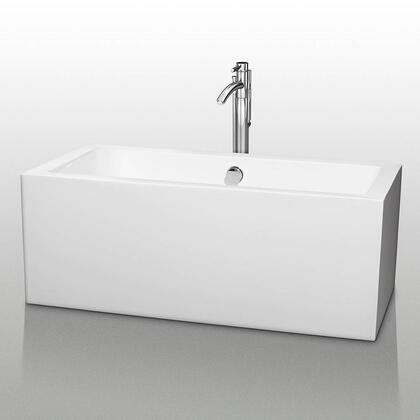 WCOBT101160 60 in. Center Drain Soaking Tub in White with Chrome