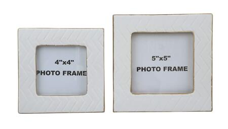 Kaelem Collection A2000193 2-Piece Photo Frame Set (2 Sets) with Glazed Ceramic Material in Antique