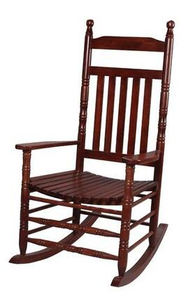 3500C Natural Wood Handcrafted Deluxe Extra Tall Back Rocking Chair in Cherry