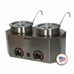 2029A 19.75 inch  Pro-Deluxe Warmer-Dual Unit with Ladles and Stainless Steel