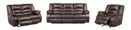Levelland Collection 17001RSLR 3-Piece Living Room Set with Reclining Sofa  Reclining Loveseat and Recliner in Cafe