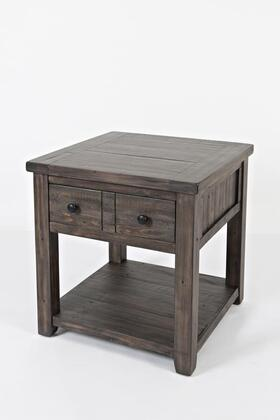 Madison County 1700-3 End Table with Distressed Detailing and Finished Back in Barn