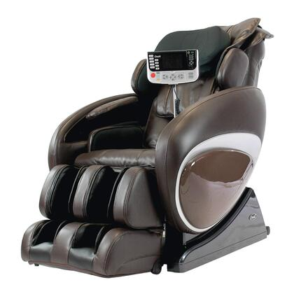 OS-4000T BROWN Massage Chair with 2 Stage Zero Gravity Massage  Unique Foot Roller  Computer Body Scan  38 Air Bags  Compact Wireless Controller and Full Size