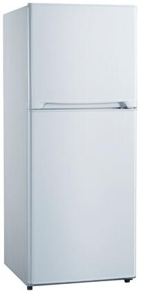 FF116B0W Two Door Refrigerator with 11.5 cu. ft. Capacity  Frost Free  Glass Shelves  Door Bins  and Electronic Thermostat  in