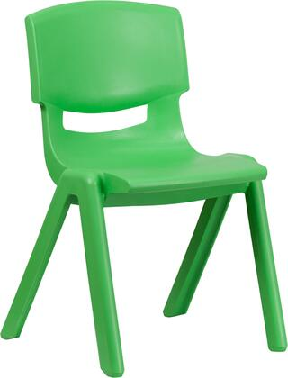 YU-YCX-005-GREEN-GG Green Plastic Stackable School Chair with 15.5'' Seat