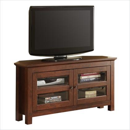 WQ44CCRTB 44 Brown Wood Corner TV Stand