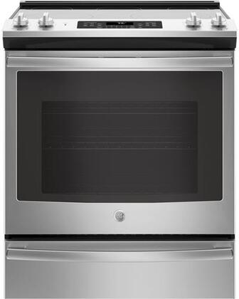 GE JS760SLSS 30 Inch Slide-in Electric Range with Smoothtop Cooktop, 5.3 cu. ft. Primary Oven Capacity, in Stainless Steel
