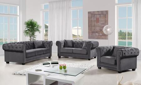 Bowery Collection 739495 3-Piece Living Room Sets with Stationary Sofa  Loveseat and Living Room Chair in