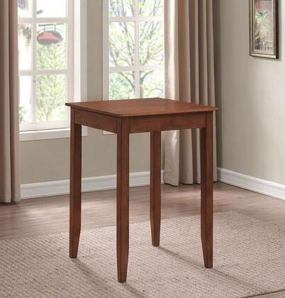 Provence P2-201 42 inch H Square Pub Table with 2 Drawers  Adjustable Leg Levelers and Tapered Legs in Hand Applied Brown Cherry