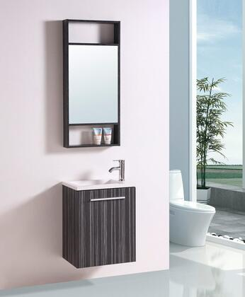 Wt21302a 18 Sink Vanity And Mirror With Resin Top And 1 Pre-drill Faucet Hole In Black And White
