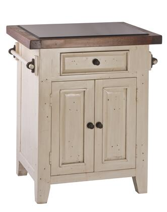 5465855w Tuscan Retreat 24 Wide Small Kitchen Island With 1 Pass-thru Drawer  2 Doors  Granite Top And Solid Pine Timber Construction In Country White And