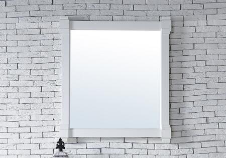 Brittany Collection 650-M35-CWH 35 inch  x 39 inch  Mirror with Solid Kiln-Dried Wood Frame and Molding Details in Cottage