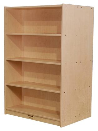 M48DCASEBK 48 Double-Sided Bookcase Maple Finish  Edge Color -