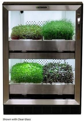 UCRC 24 inch  Urban Cultivator Residential with 4 Flats Growing Capacity  Magnetic Seals  Automatic Watering  Customizable Programs  Removable Grow Drawers  Castor