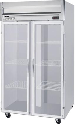 HR21GLED 52 inch  Horizon Series Reach-In Commercial Refrigerator with 49 cu. ft. Capacity  Aluminum Interior  in Stainless