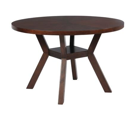 Hiatt Collection D1082D17DT 48 inch  Dining Table with 100 LB Weight Capacity  Angular Legs and 1.75 inch  Thick Top in