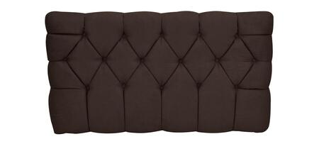 inch Meridia 11201CHS Collection inch  Tufted Upholstered Twin Headboard with Metal Legs and Wood Frame in Chocolate