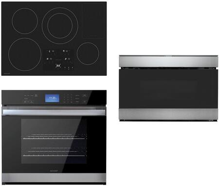 3 Piece Kitchen Appliance Package with SDH3042DB 30