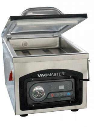VP215C Vacmaster Vacuum Packaging Machine with 40 Second Cycle Time  Chamber  Smoky Clear Lid  and 0.25 Horsepower  in Stainless