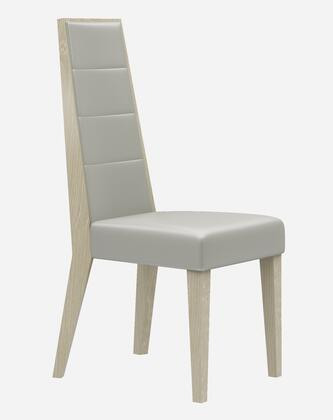 Chiara Collection 18754-DC Dining Chair with Eco Pelle Upholstery and Tapered Legs in Light Walnut and