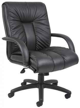 B9307 Italian Leather Mid Back Executive Chair With Knee