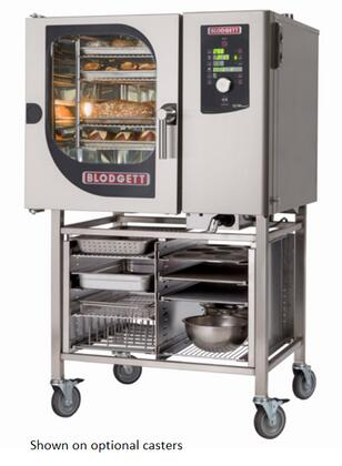 BLCM61G Single Gas Boilerless Combination-Oven/Steamer with Dial and Digital controls  Reversible 9 speed fan  Up to 50 recipe programs with 10 cooking stages
