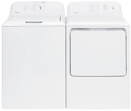 "2 Piece Laundry Pair with HTW200ASKWW 27"""" Top Load Washer and HTX21GASKWW 27"""" Gas Dryer in"" 730082"