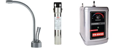 LB9280-FRC-3HT Faucet Set with LB9280 Hot & Filtered Cold Water Dispenser  FRCNSTR Filter Canister with Housing and HT300 Little Butler Heating