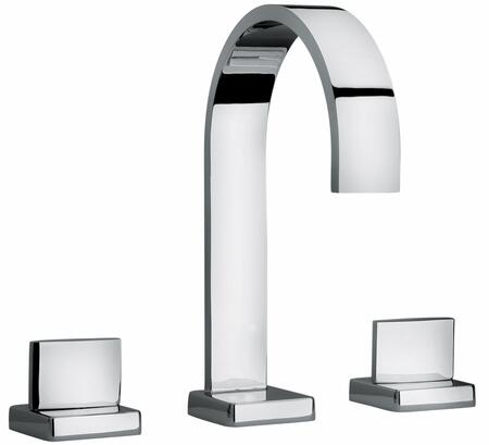 15102-81 Two Lever Handle Roman Tub Faucet With Classic Ribbon Spout  Designer Brushed Nickel
