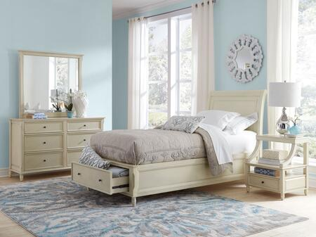 Avignon Youth Collection 1617fpbdmn 4-piece Bedroom Set With Full Storage Bed  Dresser  Mirror And Nightstand In