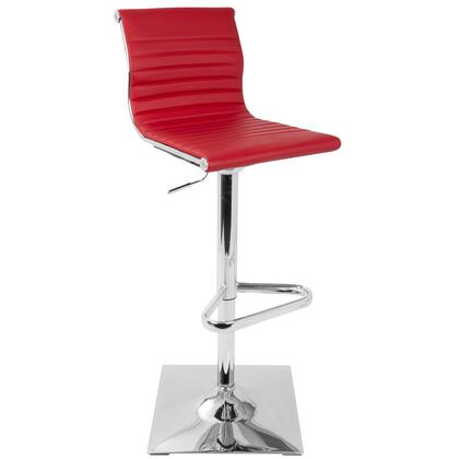 BS-MASTER R Master Height Adjustable Contemporary Barstool with Swivel in
