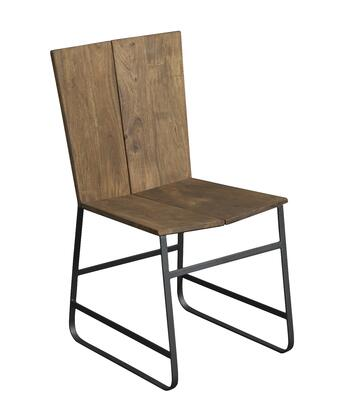 75356 33 inch  Dining Chair with Stretchers  Split Wood Seat and Metal Strap Frame in Sequoia Light Brown