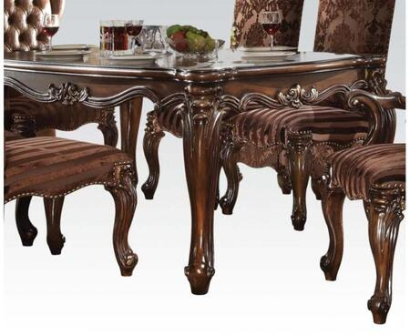 Versailles Collection 61110 71 inch  Dining Table with Scrolled Apron  Ornamental Detail  Rectangular Shape  Poplar Wood Veneer and Poly Resin Decor Materials in
