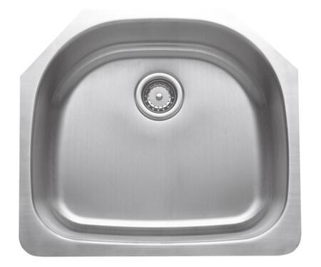 CMU2421-9D-16 Craftsmen Series Stainless Steel Single Bowl Undermount Sinks  Gauge