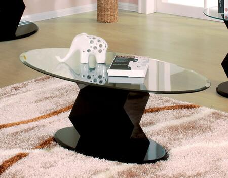 81365 Taksha Coffee Table with Glass Top in