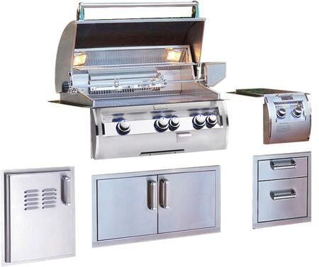 Grill Package with E660I4EAN Built In Gas Grill  32814 Double Side Burner  53802SC Double Drawer  53934SC Double Door  53820SCTL Single Access Door with