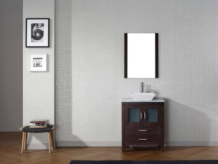 KS-70028-WM-ES-001 Modern 28 Single Sink Bathroom Vanity