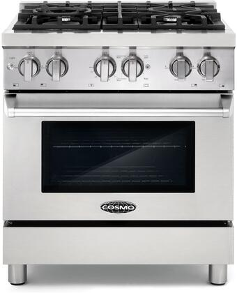COS-DFR304 30 inch  Pro-Style Dual Fuel Range with 4 Sealed Burners  3.9 cu. ft. Oven Capacity  Electronic Ignition  Cast Iron Grates  Triple Layer Oven Glass and